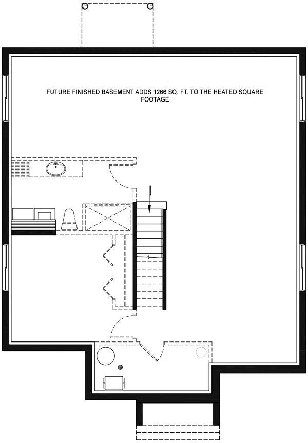 House Plan Design - Contemporary Floor Plan - Lower Floor Plan #23-2714