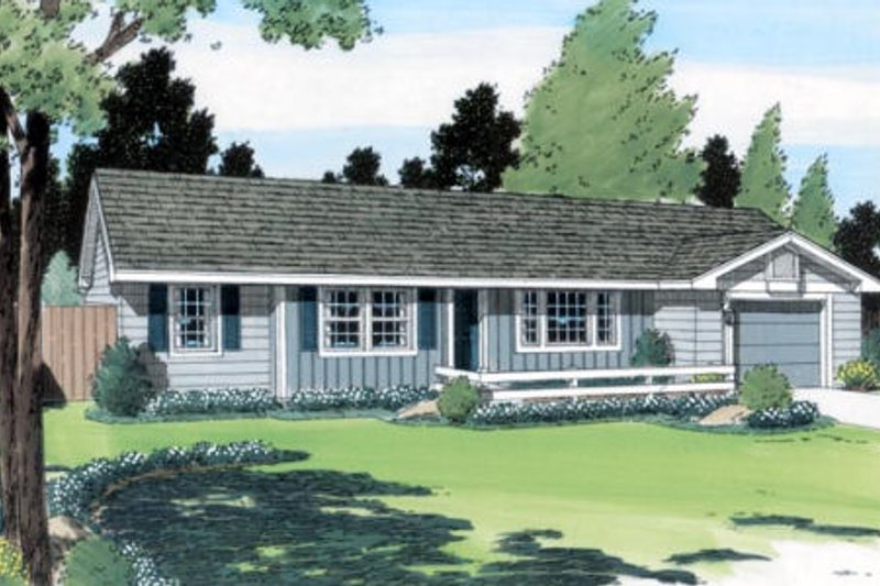 Ranch Style House Plan - 3 Beds 2 Baths 984 Sq/Ft Plan #312-542