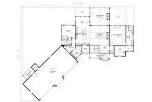 Craftsman Floor Plan - Main Floor Plan Plan #437-116