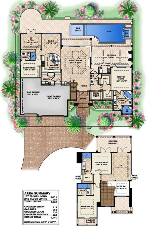 Home Plan - Beach Floor Plan - Main Floor Plan #27-520