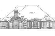 European Style House Plan - 3 Beds 2.5 Baths 2640 Sq/Ft Plan #310-857 Exterior - Rear Elevation