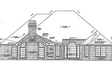 Home Plan Design - European Exterior - Rear Elevation Plan #310-857