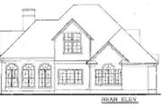 European Style House Plan - 3 Beds 3 Baths 1858 Sq/Ft Plan #20-258 Exterior - Rear Elevation