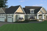 Craftsman Style House Plan - 3 Beds 2.5 Baths 2881 Sq/Ft Plan #51-579 Exterior - Other Elevation