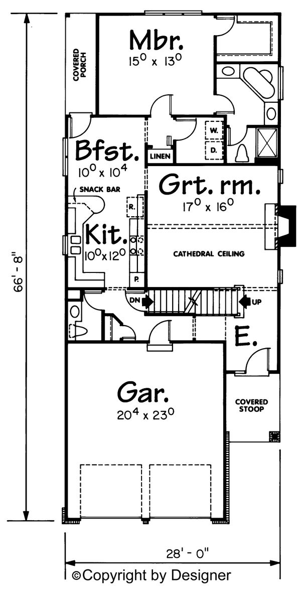 Dream House Plan - Traditional Floor Plan - Main Floor Plan #20-534