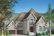 European Style House Plan - 4 Beds 2 Baths 2766 Sq/Ft Plan #25-4713 Exterior - Front Elevation