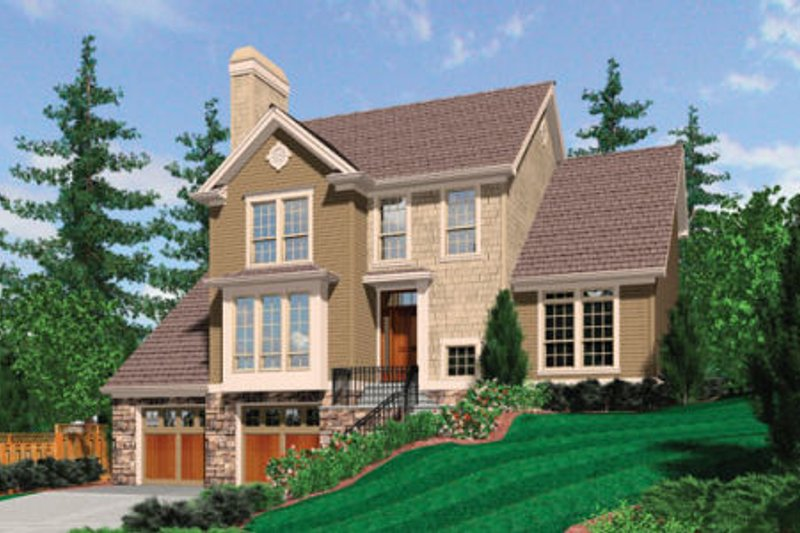 Traditional Exterior - Front Elevation Plan #48-397 - Houseplans.com