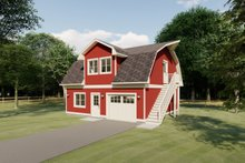 House Plan Design - Farmhouse Exterior - Front Elevation Plan #126-206
