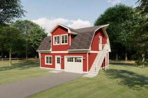 Dream House Plan - Farmhouse Exterior - Front Elevation Plan #126-206