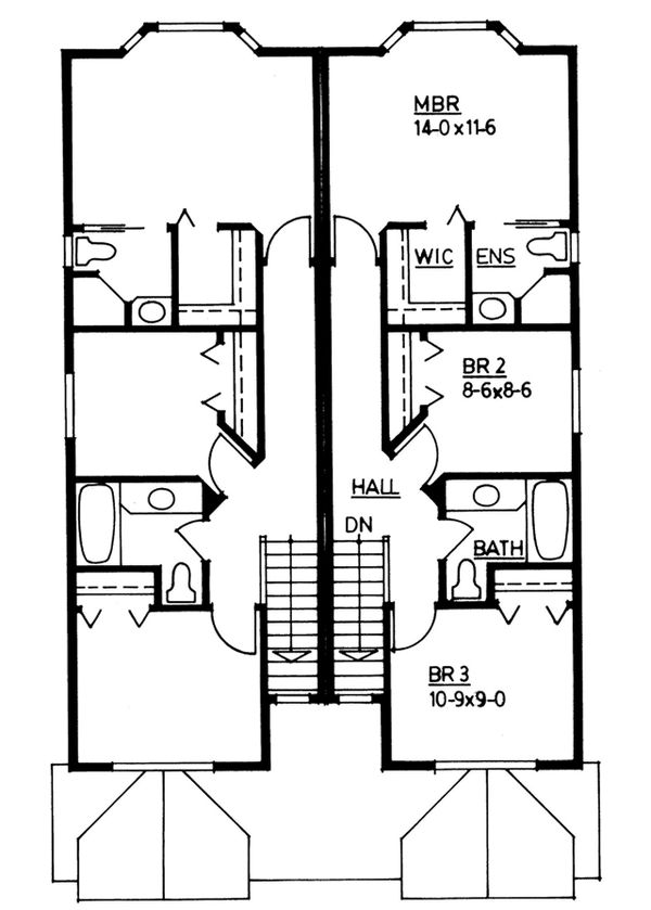 Dream House Plan - Colonial Floor Plan - Upper Floor Plan #126-228