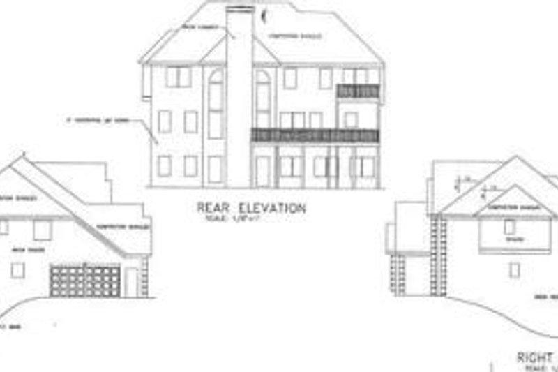 European Exterior - Rear Elevation Plan #56-209 - Houseplans.com
