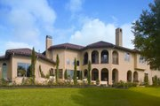 Mediterranean Style House Plan - 5 Beds 5.5 Baths 6834 Sq/Ft Plan #20-2141 Exterior - Rear Elevation