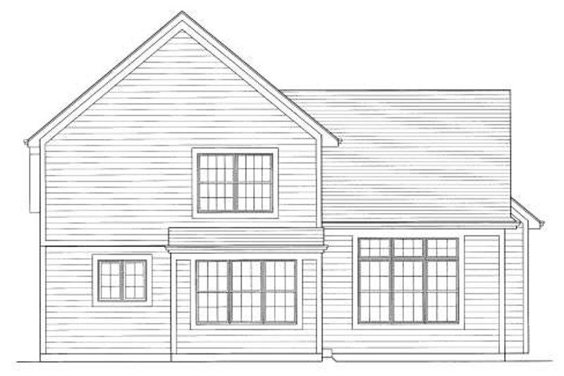 Traditional Exterior - Rear Elevation Plan #46-423 - Houseplans.com