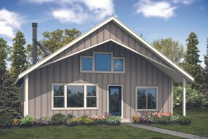 Dream House Plan - Cabin Exterior - Front Elevation Plan #124-1128