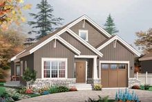 Craftsman Exterior - Front Elevation Plan #23-649