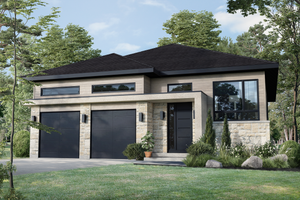 Contemporary Exterior - Front Elevation Plan #25-4888
