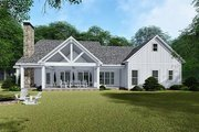 Country Style House Plan - 3 Beds 2.5 Baths 2031 Sq/Ft Plan #923-132 Exterior - Rear Elevation
