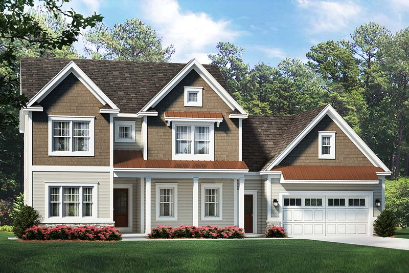 Traditional Style House Plan - 4 Beds 2.5 Baths 2430 Sq/Ft Plan #1010-231 Exterior - Front Elevation