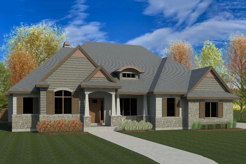 Architectural House Design - Traditional Exterior - Front Elevation Plan #920-19
