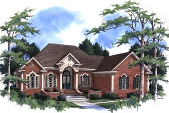 Traditional Exterior - Front Elevation Plan #37-103