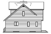 Country Style House Plan - 2 Beds 2 Baths 1285 Sq/Ft Plan #23-2030 Exterior - Rear Elevation