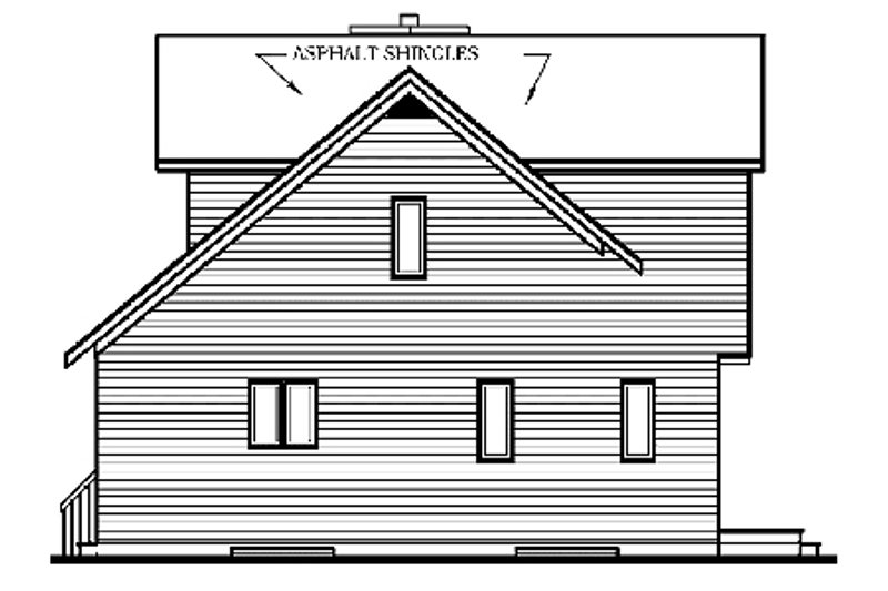 Country Exterior - Rear Elevation Plan #23-2030 - Houseplans.com