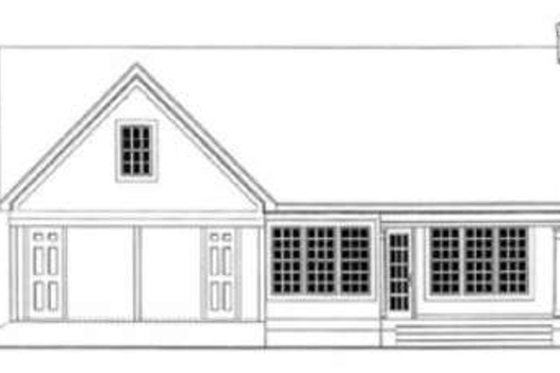 Country Exterior - Rear Elevation Plan #406-245 - Houseplans.com