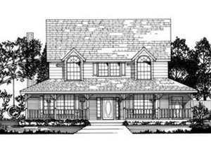 Home Plan - Country Exterior - Front Elevation Plan #62-121