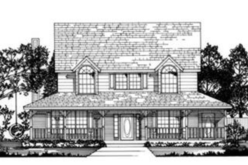 Country Exterior - Front Elevation Plan #62-121