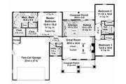 Craftsman Style House Plan - 3 Beds 2 Baths 1604 Sq/Ft Plan #21-344 Floor Plan - Main Floor Plan