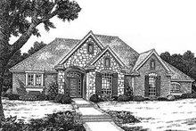 Dream House Plan - European Exterior - Front Elevation Plan #310-587
