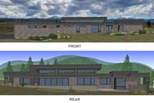 Architectural House Design - Front & Rear Renderings