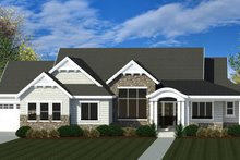 Craftsman Exterior - Front Elevation Plan #920-109