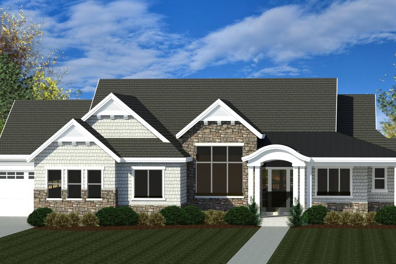 House Plan Design - Craftsman Exterior - Front Elevation Plan #920-109
