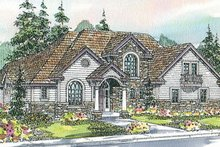 Dream House Plan - European Exterior - Front Elevation Plan #124-722