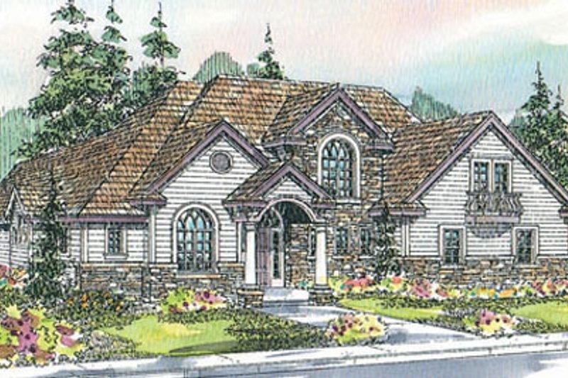 Dream House Plan - European Exterior - Front Elevation Plan #124-722