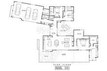 Contemporary Floor Plan - Main Floor Plan Plan #892-22