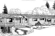 Ranch Style House Plan - 3 Beds 3 Baths 1834 Sq/Ft Plan #60-303 Exterior - Front Elevation
