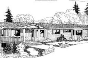Ranch Exterior - Front Elevation Plan #60-303