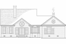 Country Exterior - Rear Elevation Plan #137-198