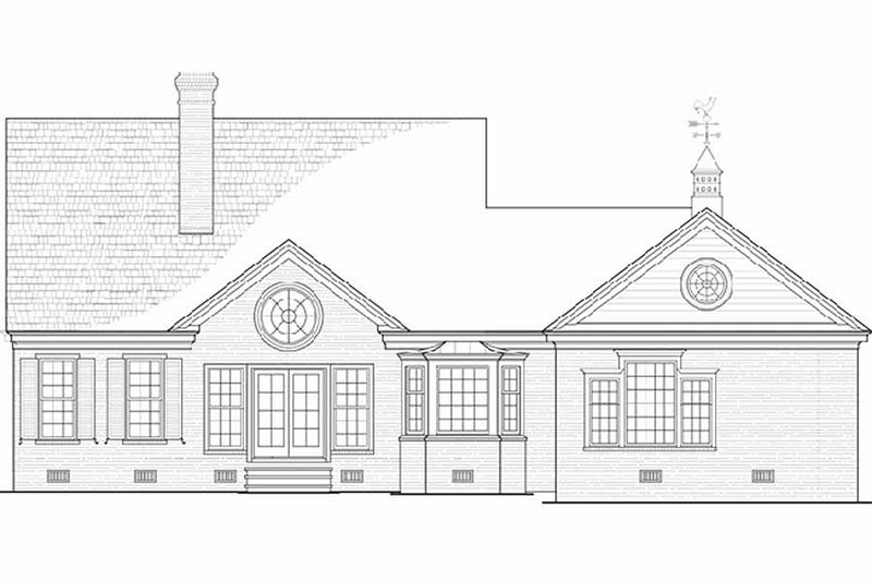 Country Exterior - Rear Elevation Plan #137-198 - Houseplans.com