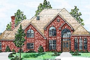 European Exterior - Front Elevation Plan #52-119