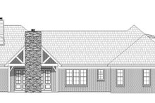 House Plan Design - Country Exterior - Rear Elevation Plan #932-93