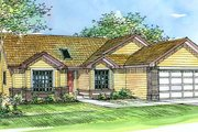 Traditional Style House Plan - 3 Beds 2 Baths 1660 Sq/Ft Plan #124-376 Exterior - Front Elevation