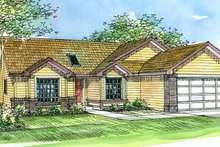 Traditional Exterior - Front Elevation Plan #124-376