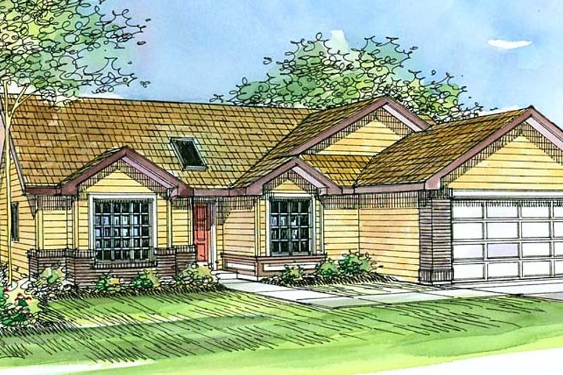 Architectural House Design - Traditional Exterior - Front Elevation Plan #124-376