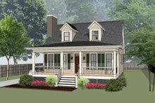 House Design - Southern Exterior - Front Elevation Plan #79-212