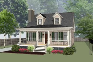 Southern Exterior - Front Elevation Plan #79-212