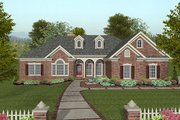 Traditional Style House Plan - 4 Beds 2.5 Baths 2000 Sq/Ft Plan #56-577 Exterior - Front Elevation