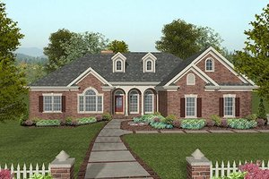 Traditional Exterior - Front Elevation Plan #56-577
